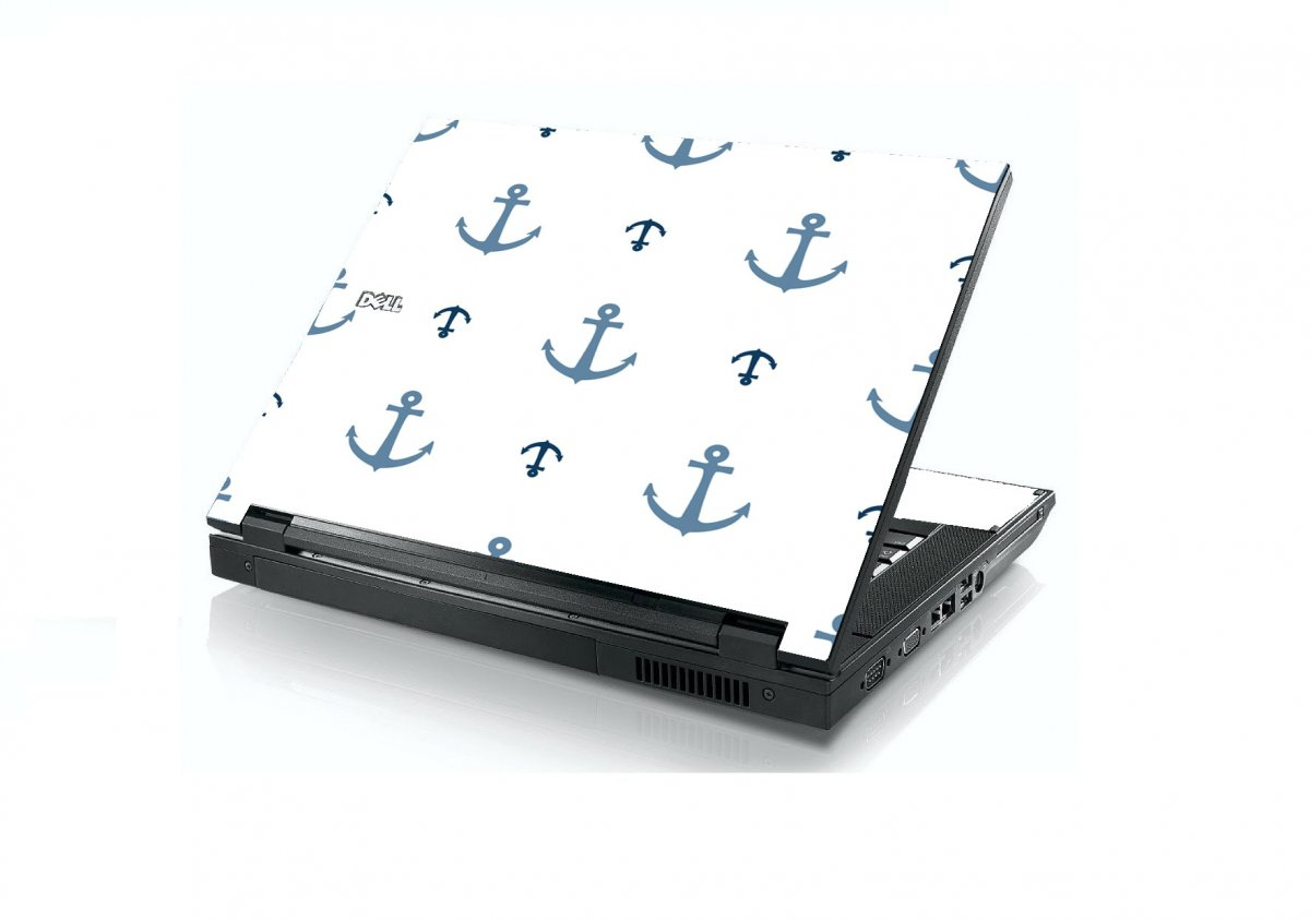 Multi Blue Anchors Dell E5400 Laptop Skin