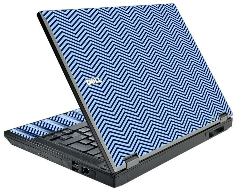 Blue On Blue Chevron Dell E5500 Laptop Skin