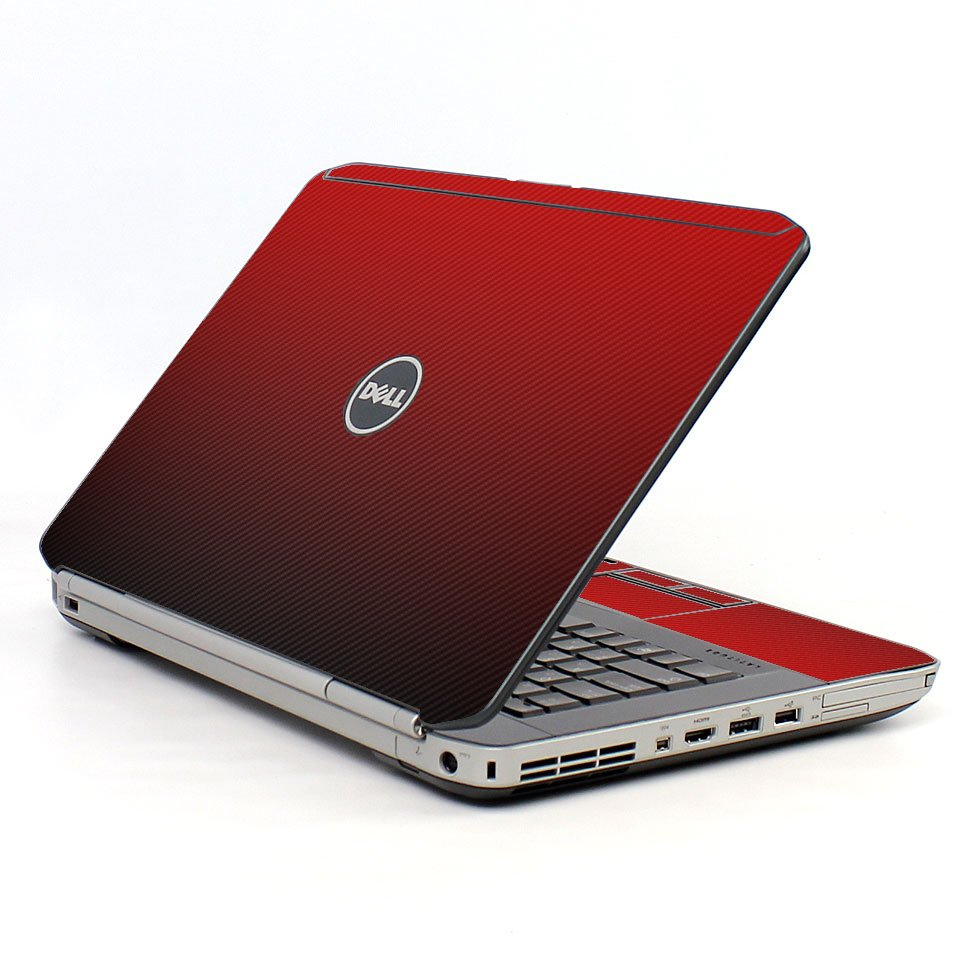 Red Carbon Fiber Dell E5520 Laptop Skin