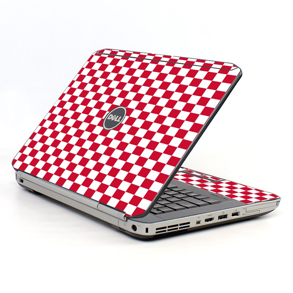 Red Check Dell E5520 Laptop Skin