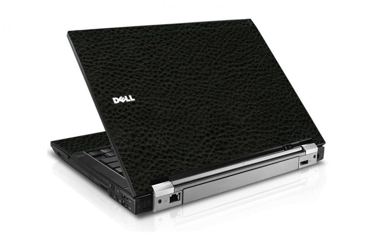 Black Leather E6400 Laptop Skin