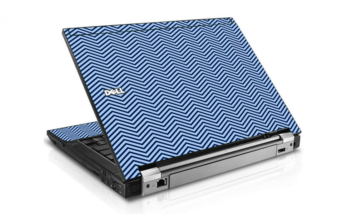 Blue On Blue Chevron Dell E6400 Laptop Skin