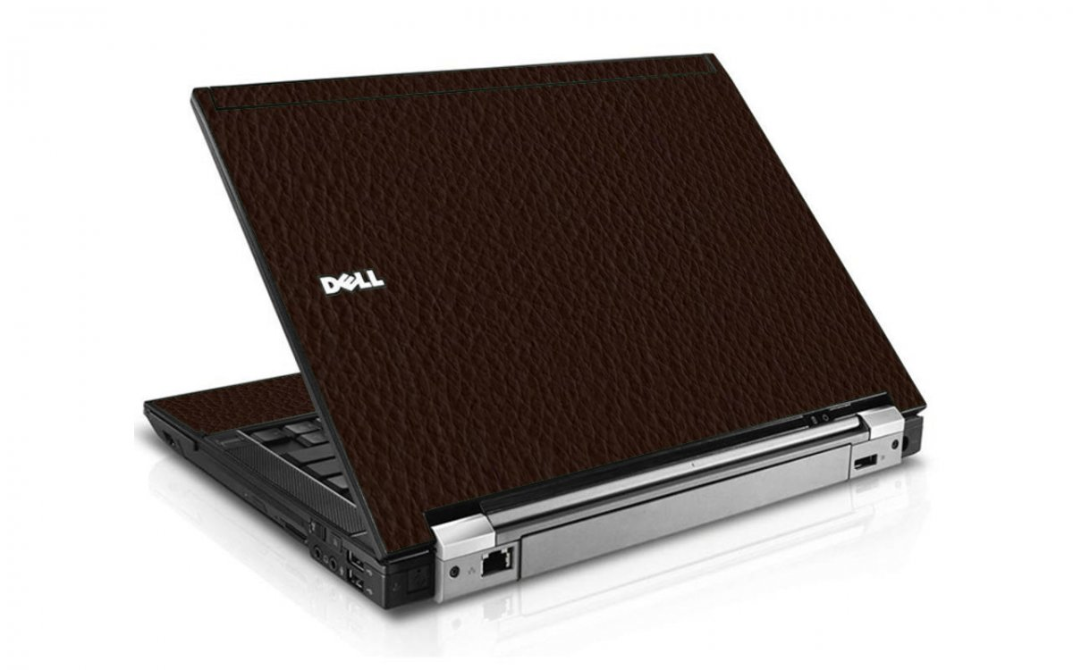Brown Leather E6400 Laptop Skin