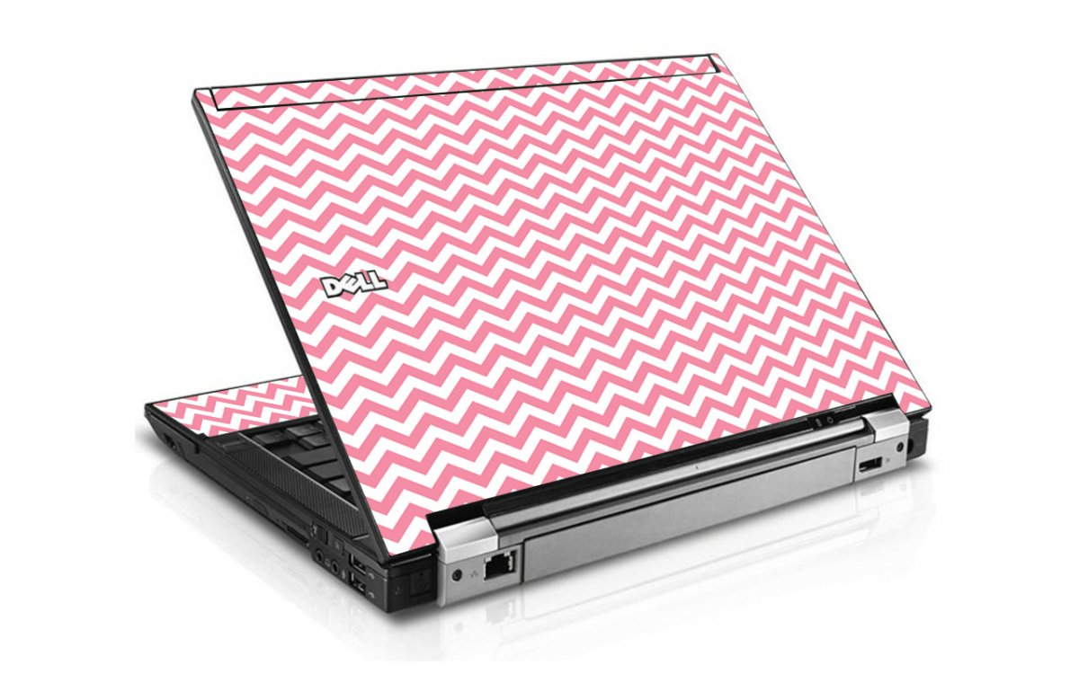 Pink Chevron Waves Dell E6400 Laptop Skin