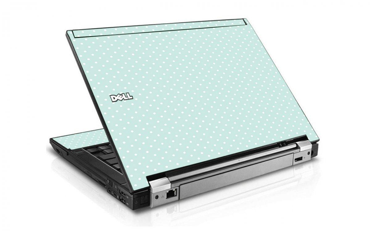 Light Blue Polka Dell E6410 Laptop Skin
