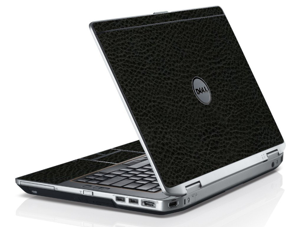 Black Leather Dell E6420 Laptop Skin