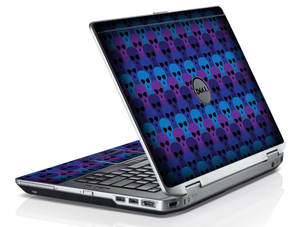 Blue Skulls Dell E6420 Laptop Skin