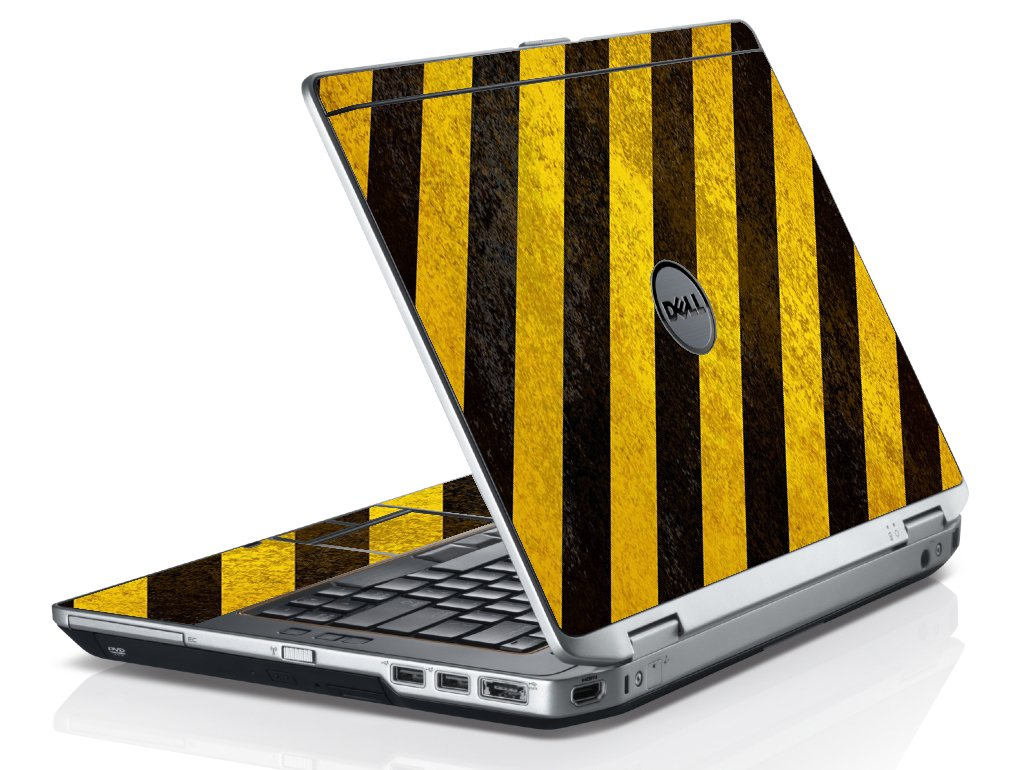 Caution Stripes Dell E6420 Laptop Skin