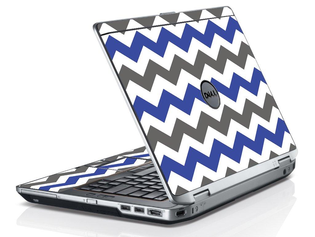 Grey Blue Chevron Dell E6430 Laptop Skin
