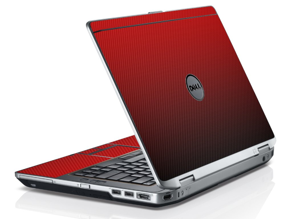 Red Carbon Fiber Dell E6430 Laptop Skin