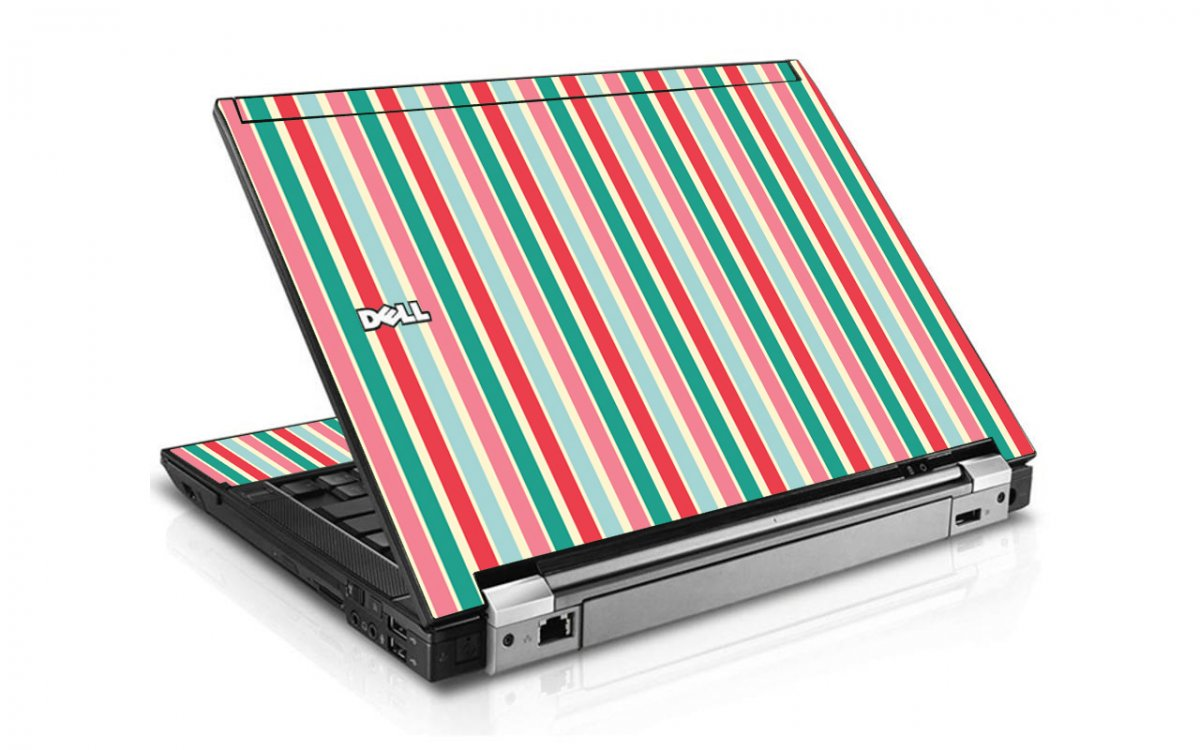 Gum Stripes Dell E6500 Laptop Skin