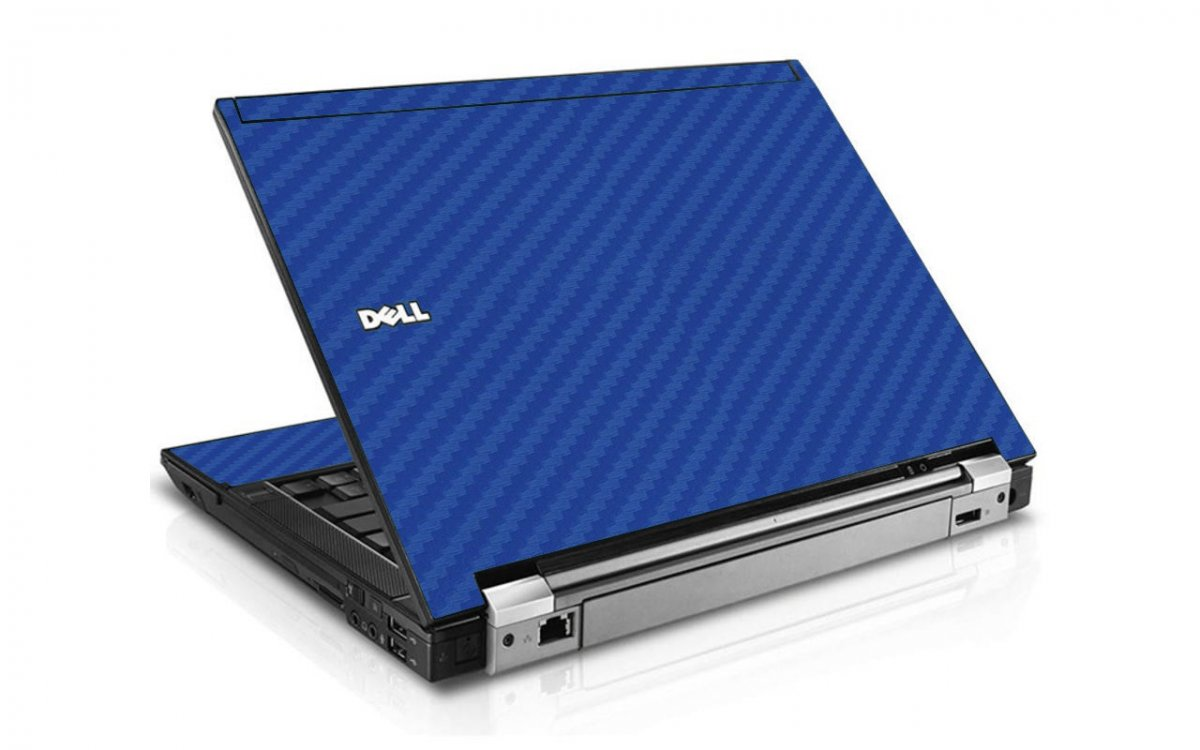Blue Carbon Fiber Dell E6510 Laptop Skin