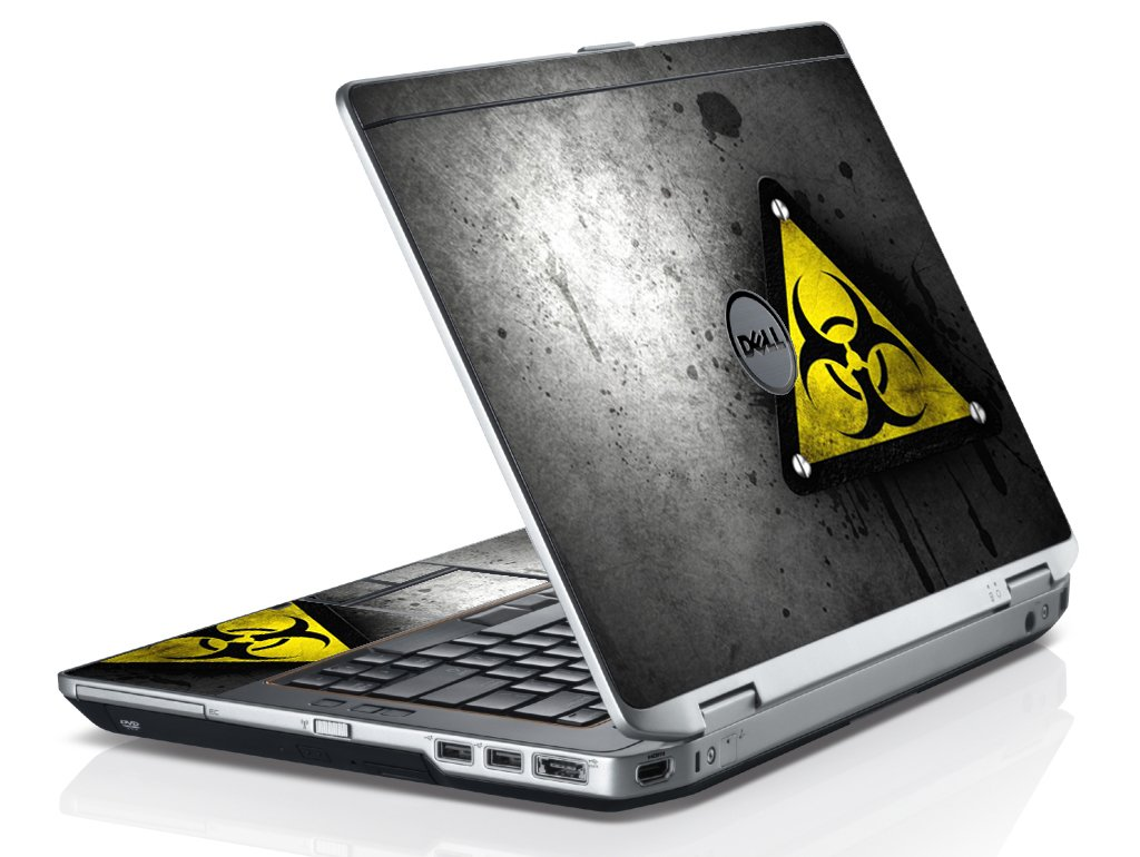 Black Caution Dell E6530 Laptop Skin