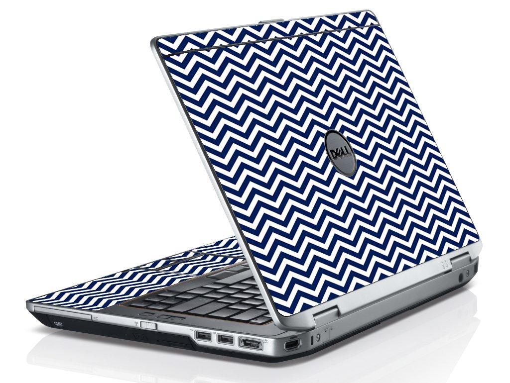 Blue Wavy Chevron Dell E6530 Laptop Skin