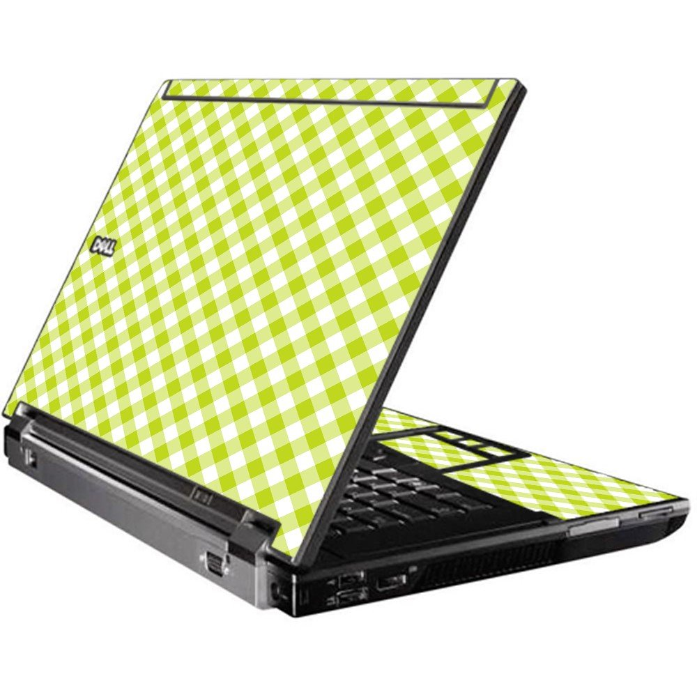 Green Checkered Dell M4400 Laptop Skin