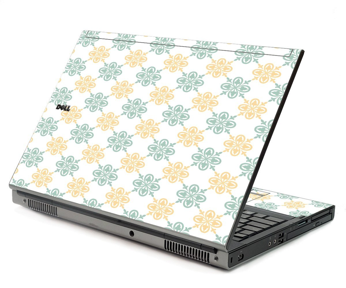 Yellow Green Flowers Dell M6400 Laptop Skin