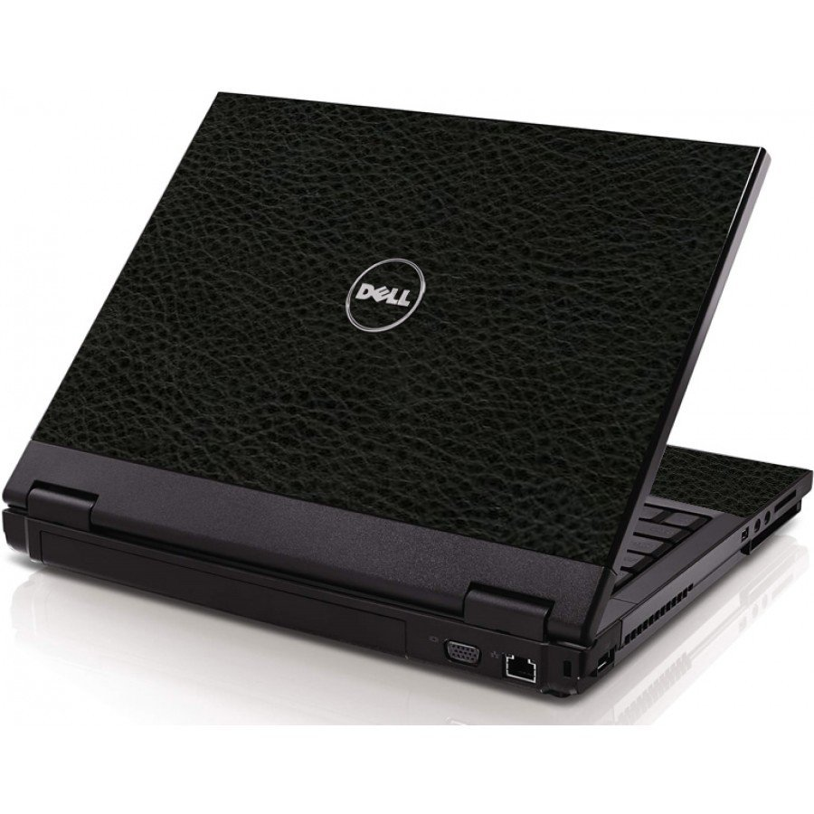 Black Leather Dell 1320 Laptop Skin