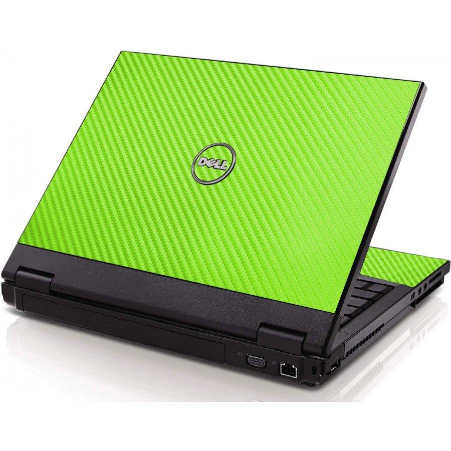 Green Carbon Fiber Dell 1320 Laptop Skin