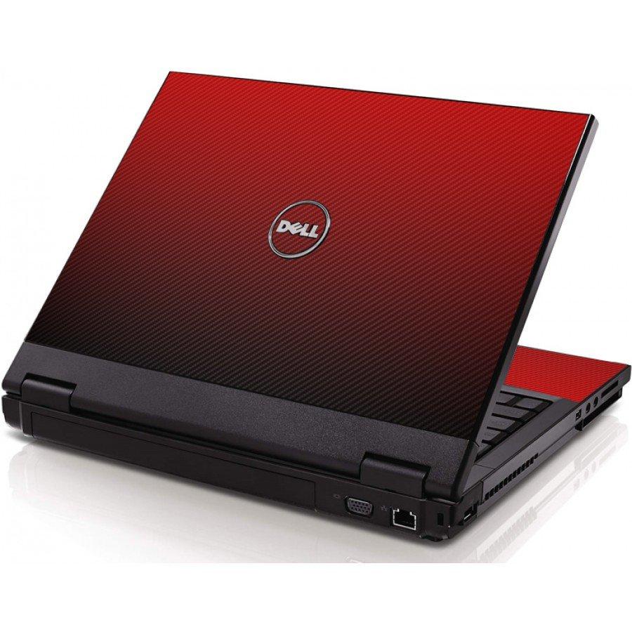 Red Carbon Fiber Dell 1320 Laptop Skin