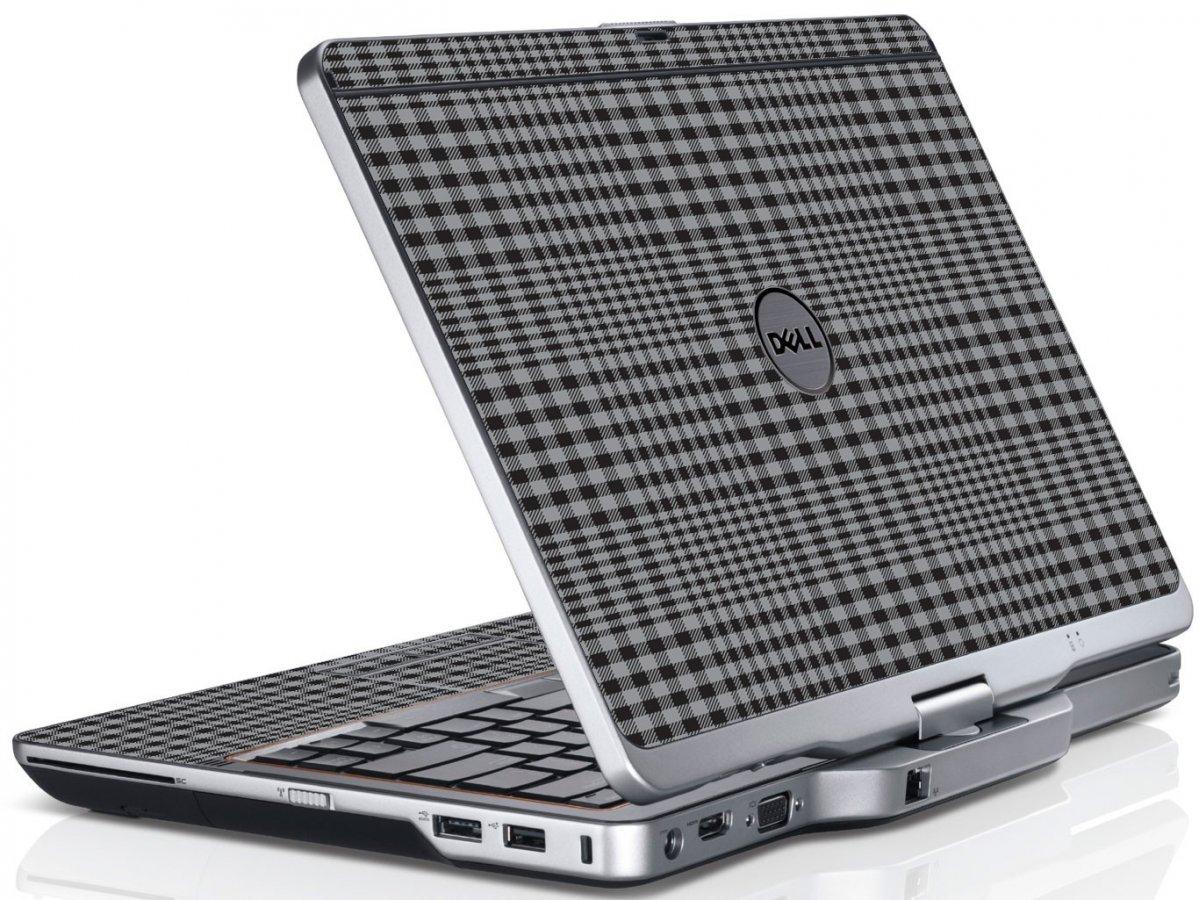 Darkest Grey Plaid Dell XT3 Laptop Skin