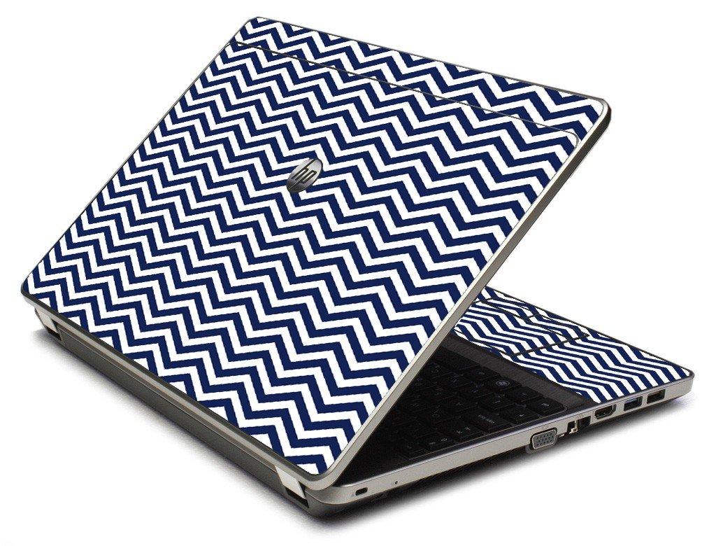 Blue Wavy Chevron 4535S Laptop Skin