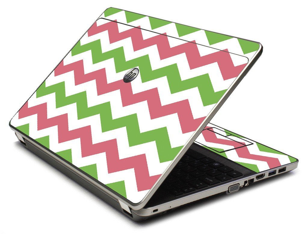 Green Pink Chevron 4535S Laptop Skin