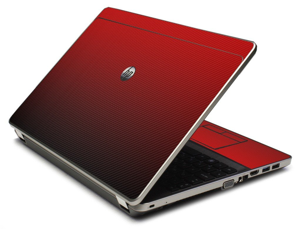Red Carbon Fiber 4535S Laptop Skin