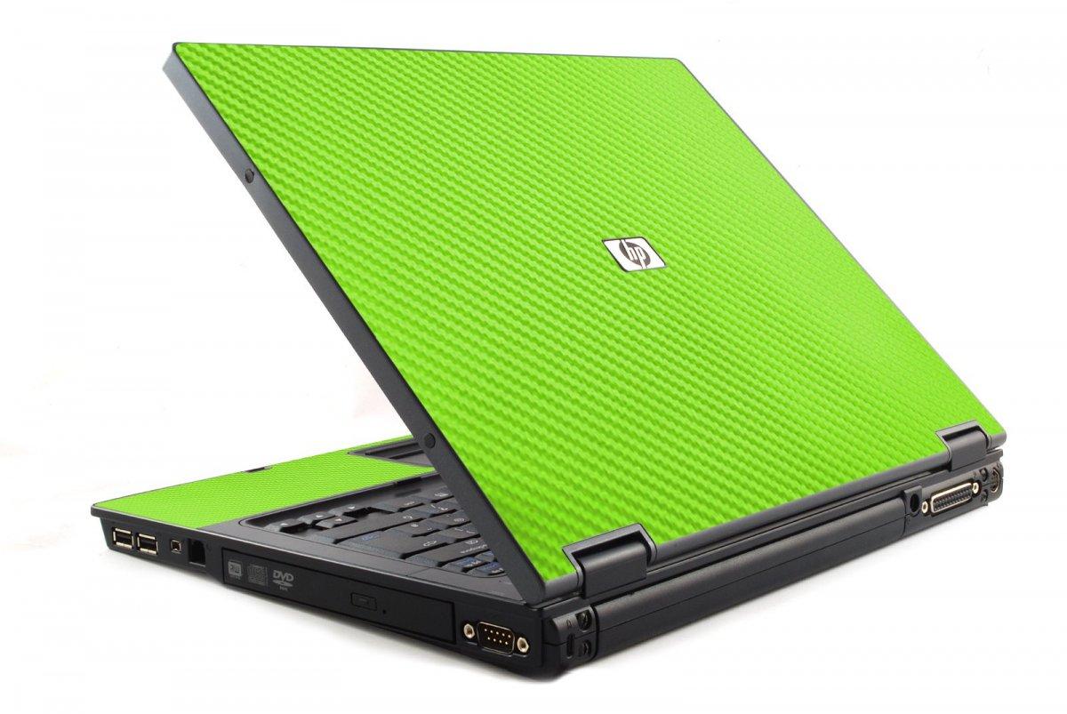 Green Carbon Fiber 6510B Laptop Skin