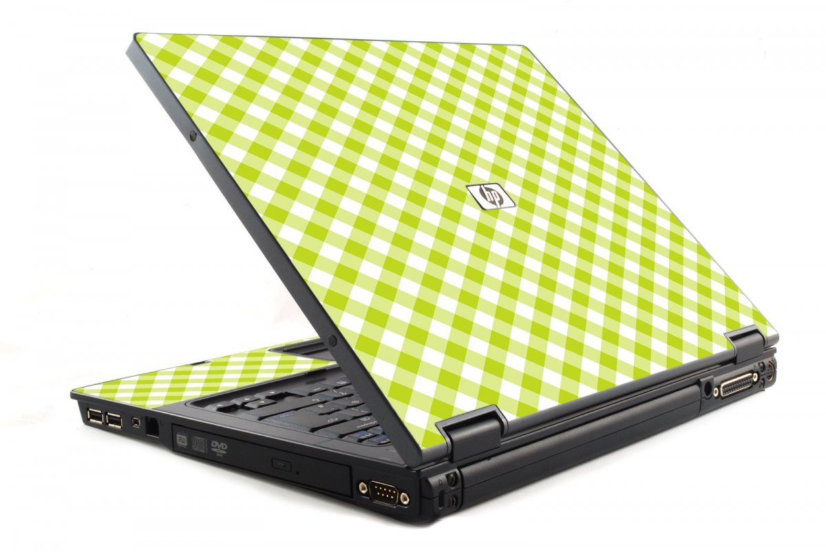 Green Checkered 6510B Laptop Skin