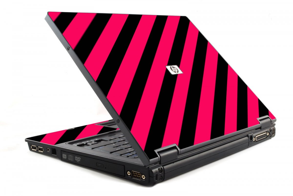 Pink Black Stripes 6510B Laptop Skin