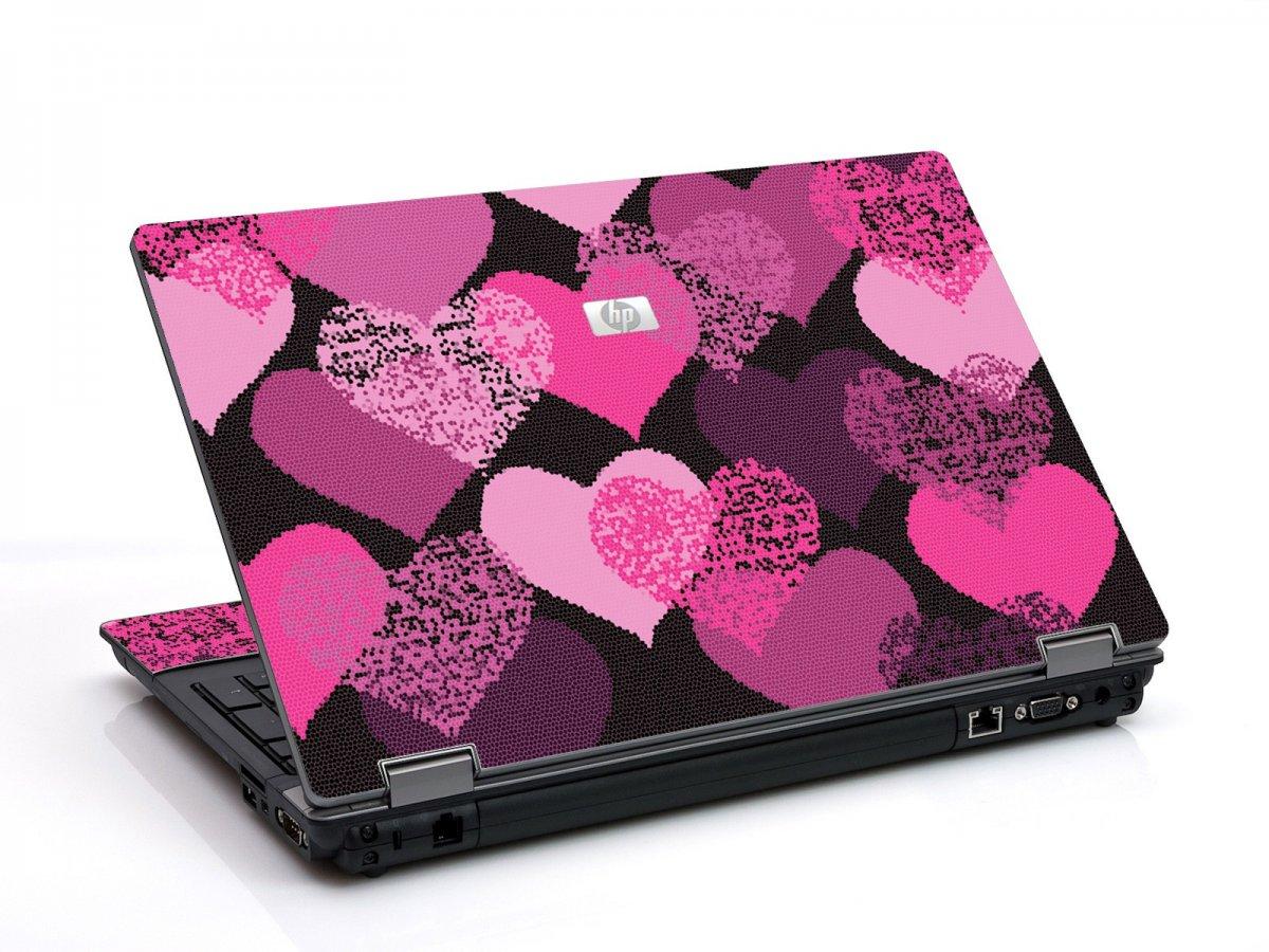 Pink Mosaic Hearts 6530B Laptop Skin