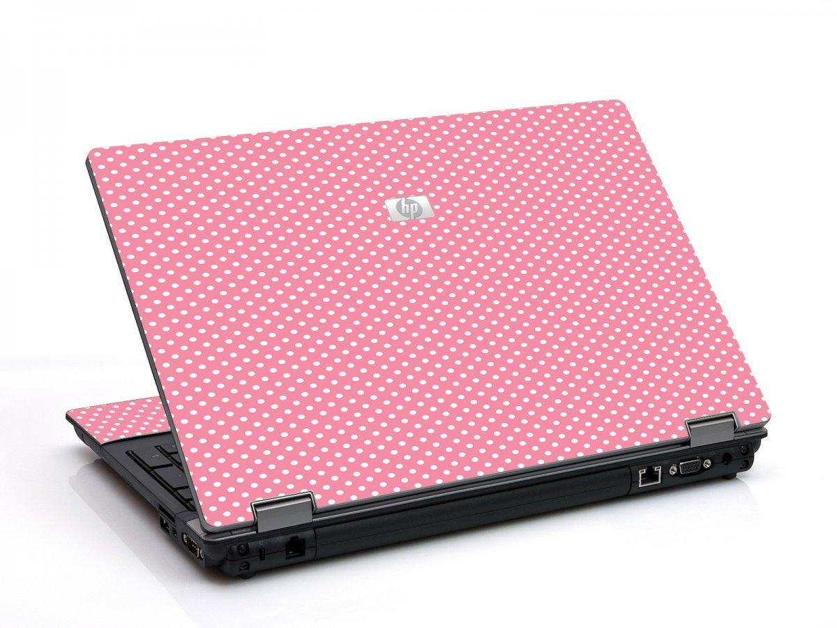 Retro Salmon Polka 6550B Laptop Skin