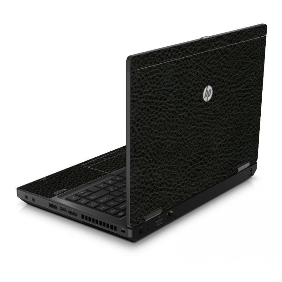 Black Leather 6560B Laptop Skin