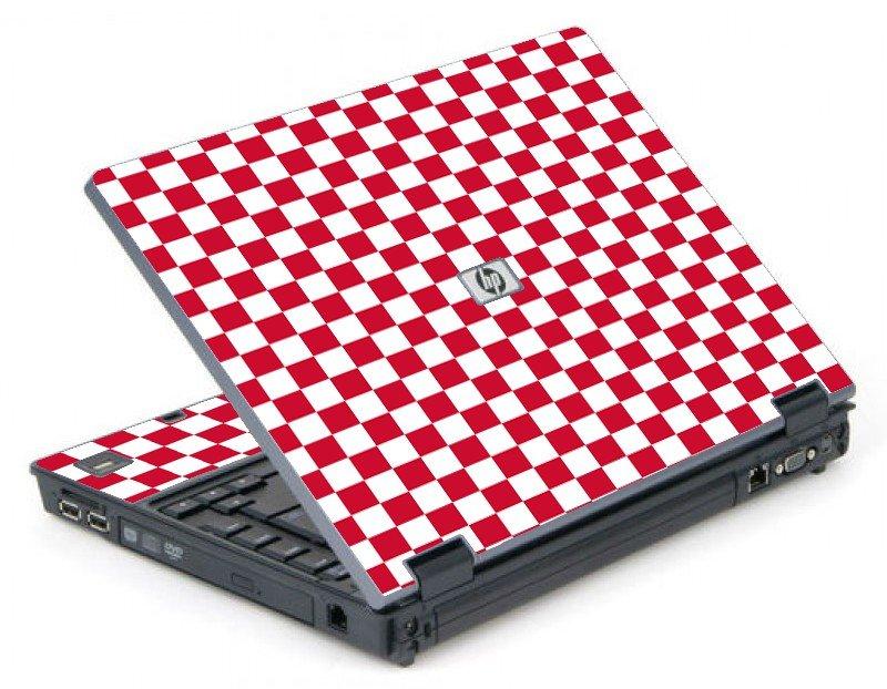 Red Checkered 6710B Laptop Skin
