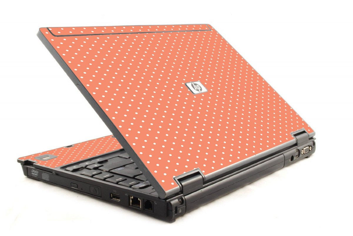 Coral Polka Dots 6930P Laptop Skin