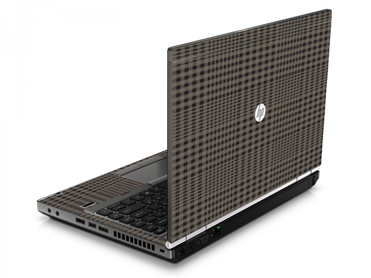 Beige Plaid HP8460P Laptop Skin