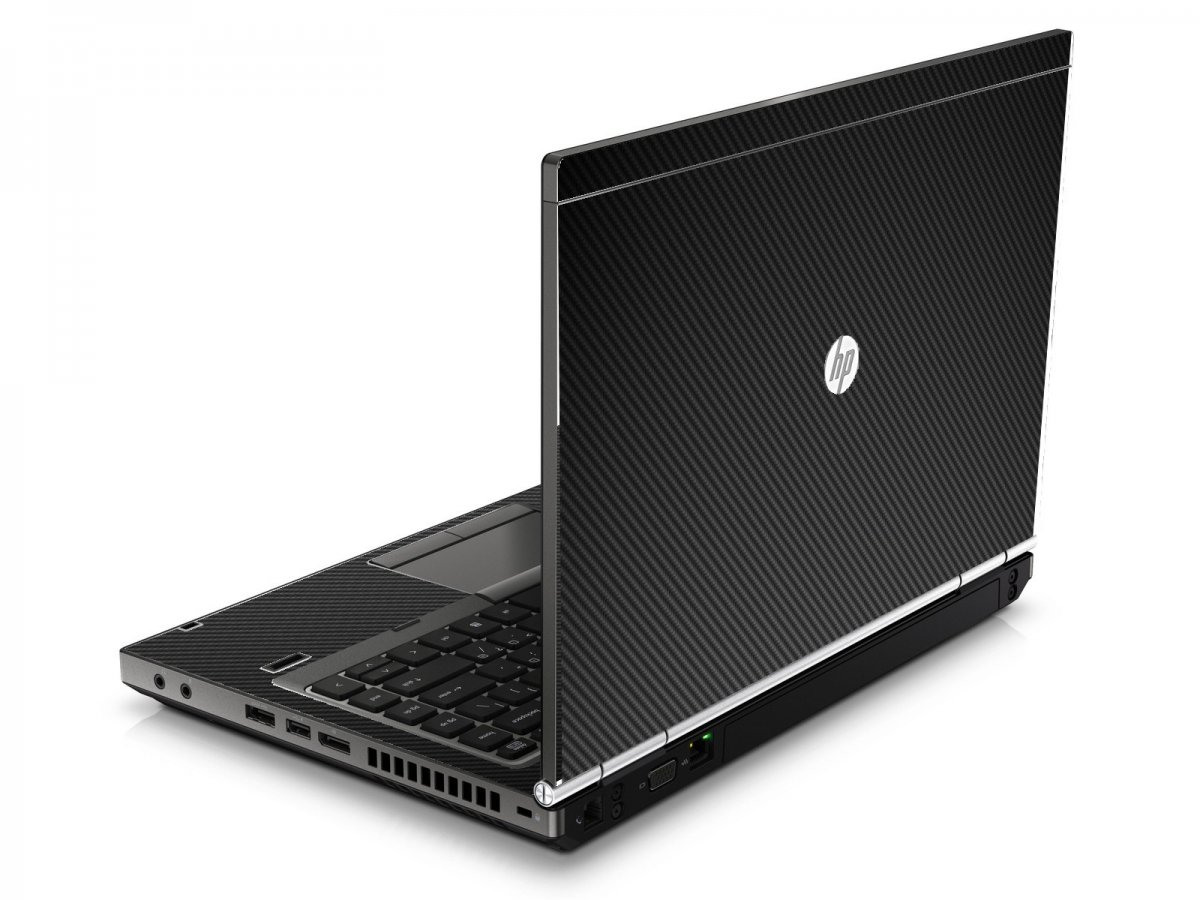 Black Carbon Fiber HP8460P Laptop Skin