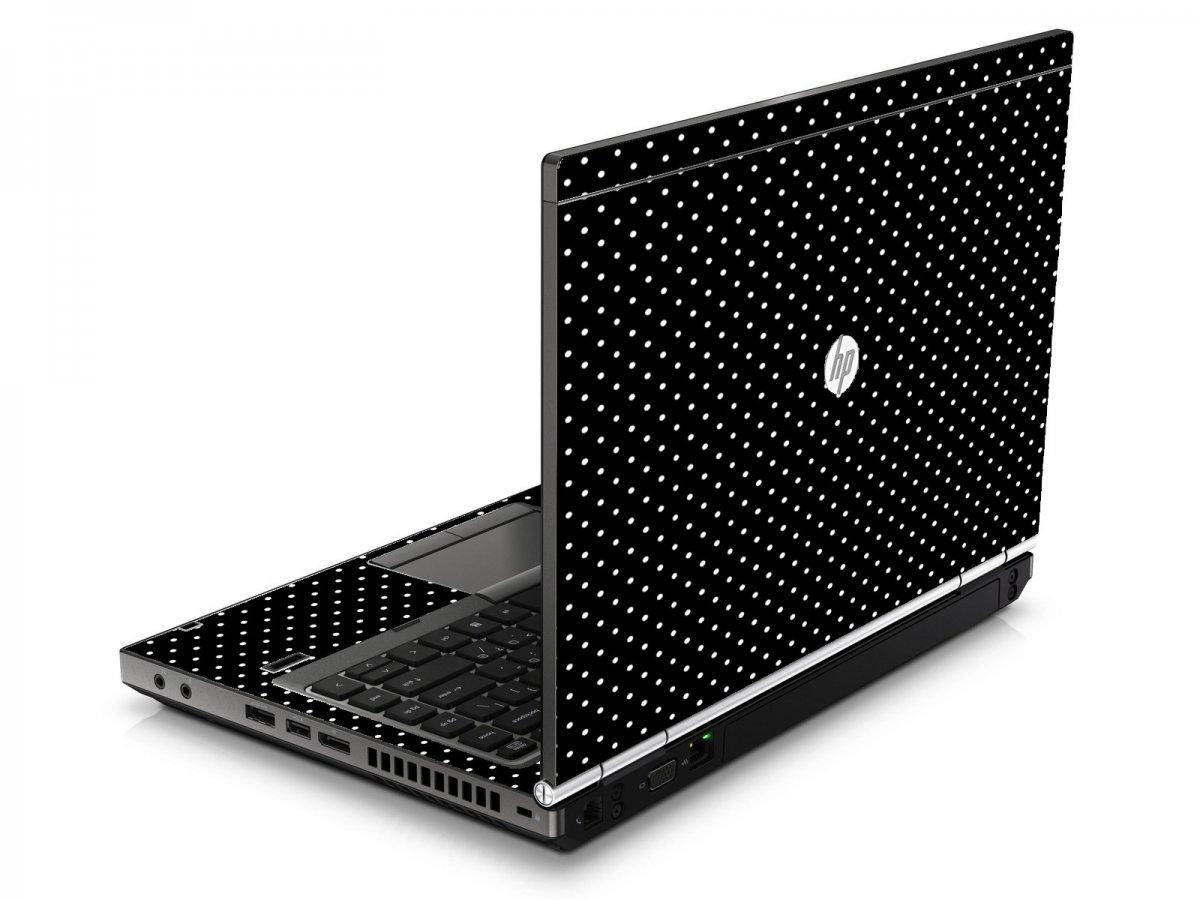 Black Polka Dots HP8460P Laptop Skin