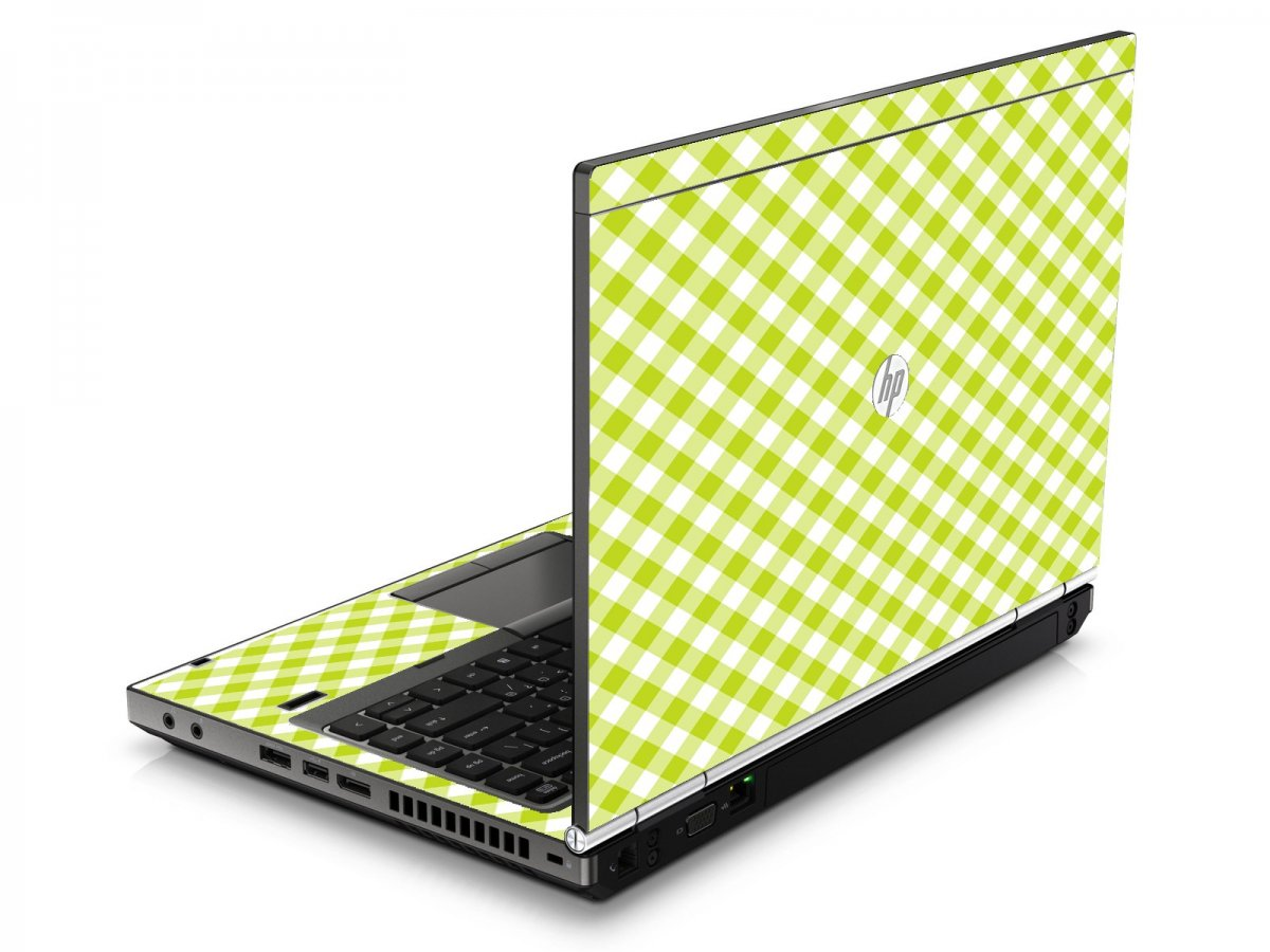 Green Checkered HP8460P Laptop Skin