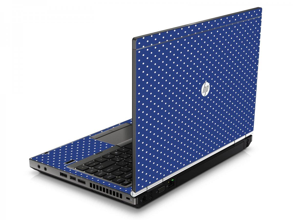 Navy Polka Dot HP8460P Laptop Skin