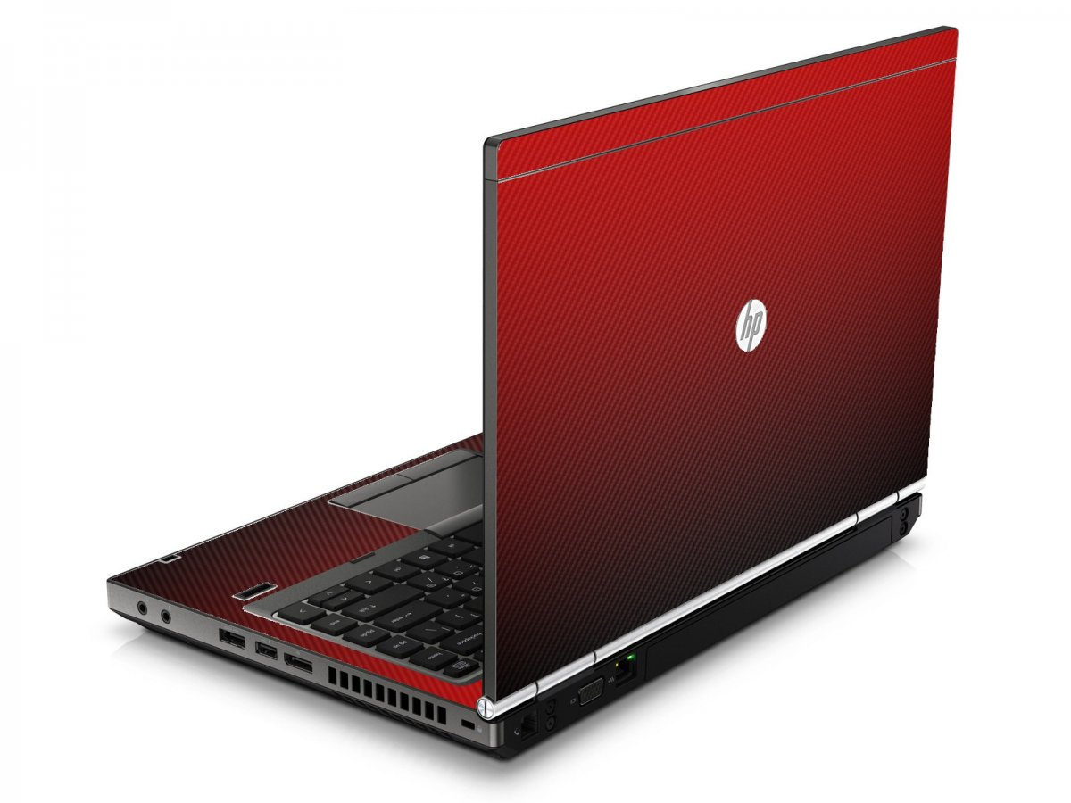 Red Carbon Fiber HP8460P Laptop Skin