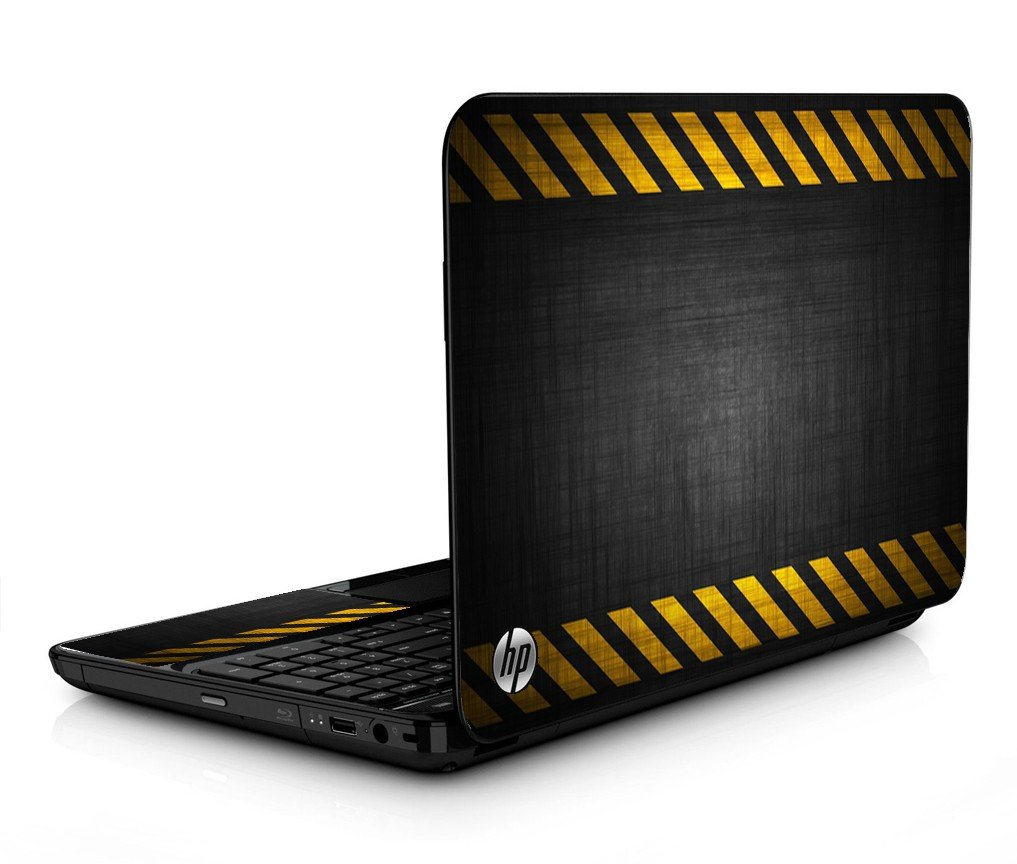 Black Caution Border HPG6 Laptop Skin