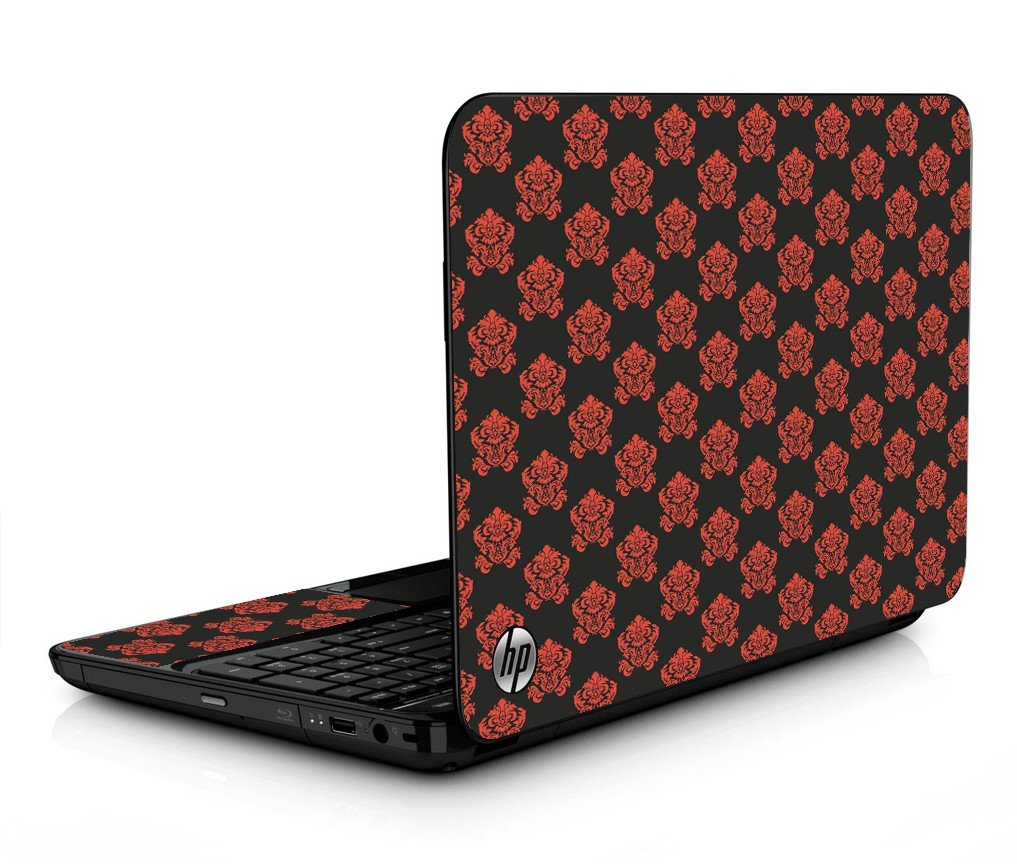 Black Flower Burst HPG6 Laptop Skin