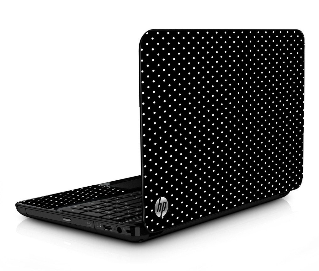 Black Polka Dots HPG6 Laptop Skin