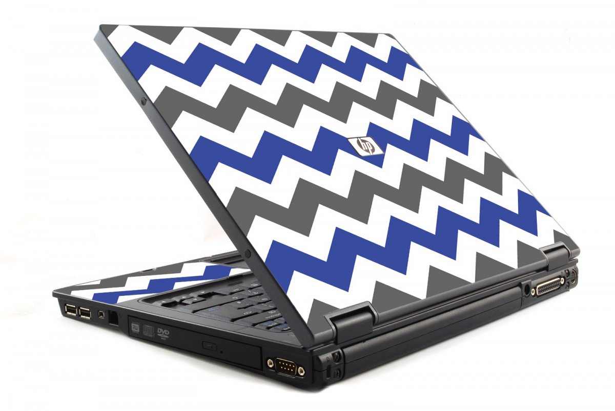 Grey Blue Chevron HP NC6120 Laptop Skin