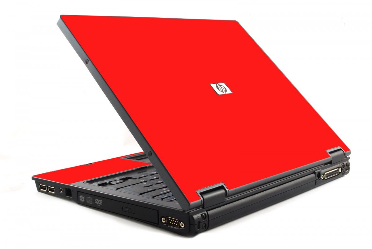 Red HP NC6120 Laptop Skin