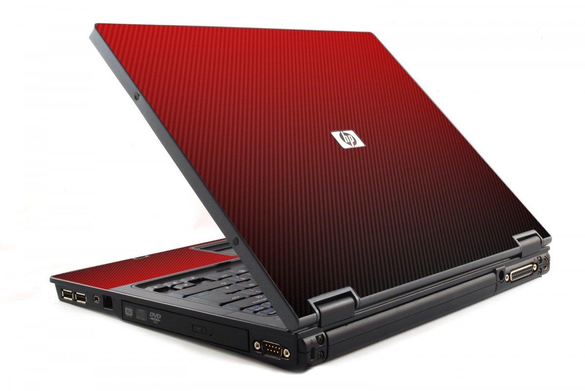 Red Carbon Fiber HP NC6120 Laptop Skin