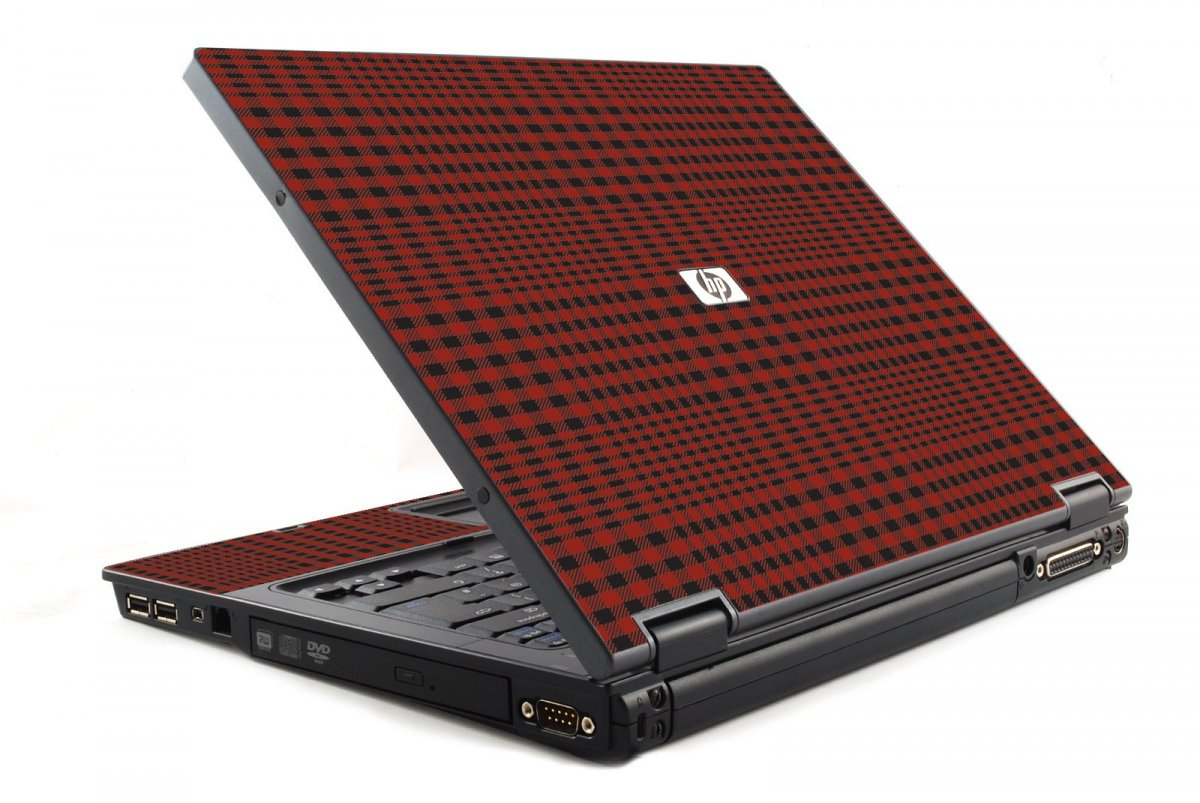 Red Flannel HP NC6120 Laptop Skin