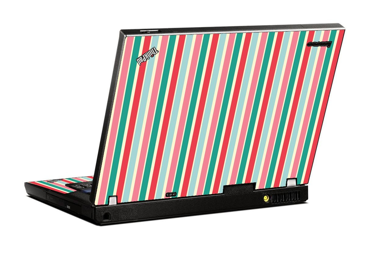 Gum Stripes IBM T400 Laptop Skin