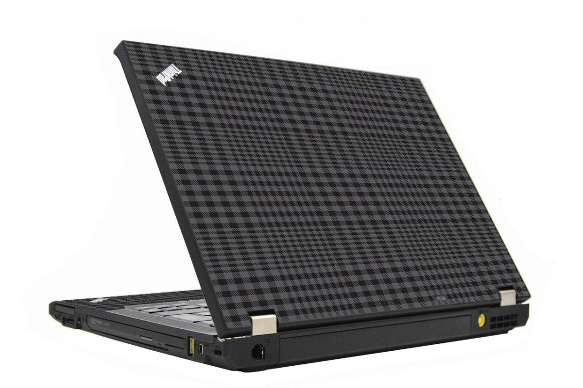Black Plaid IBM T410 Laptop Skin
